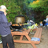 2017-09-21_1741_Tony_Elly Schachtel_Tofino_Vancouver Island.JPG<br /> <br /> Tony cooking up some yummy sausages for dinner (but we had to set them aside so we could watch the amazing sunset!)