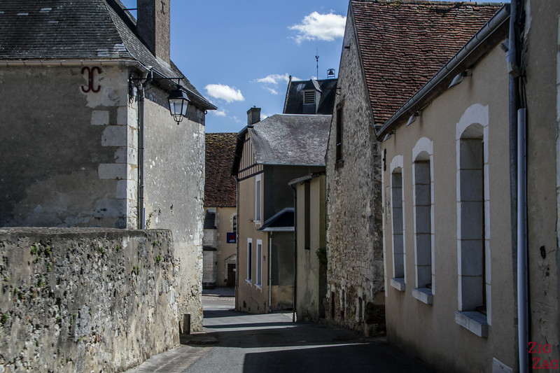 Driving in Normandy village