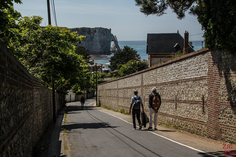 Etretat Northern cliff access