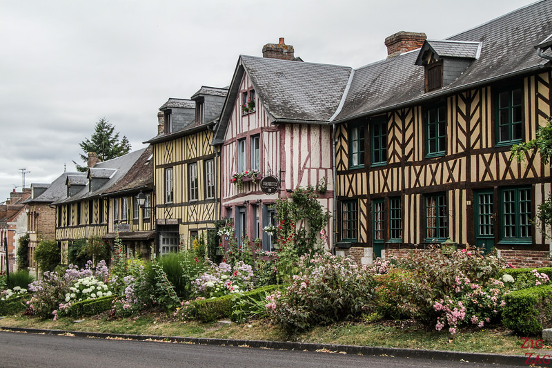Le Bec-Hellouin streets with Half timbered houses 2
