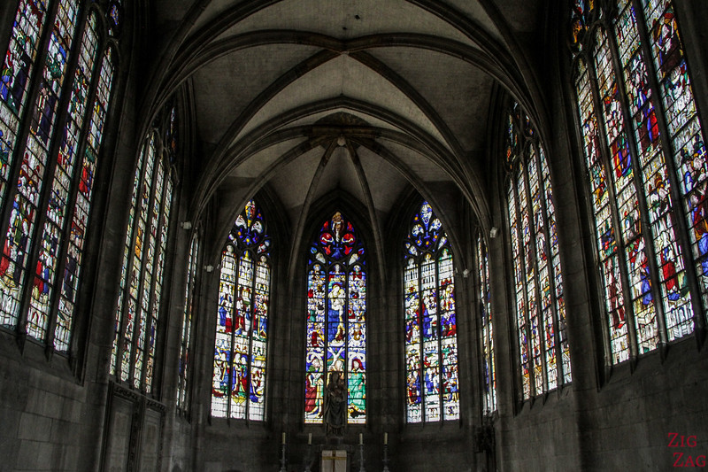 Evreux Cathedral stained glass windows