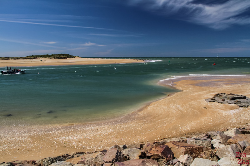 Cabourg sand dune spit from Houlgate