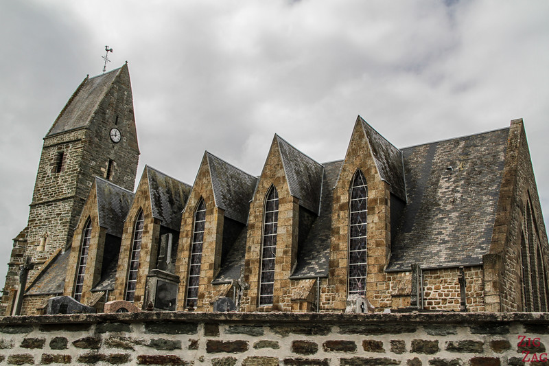 Typical churches in Western Normandy