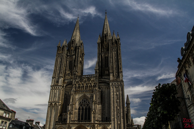 Coutances Cathedral outside