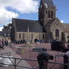 Sainte-Mère-Église preparing for the festivities.