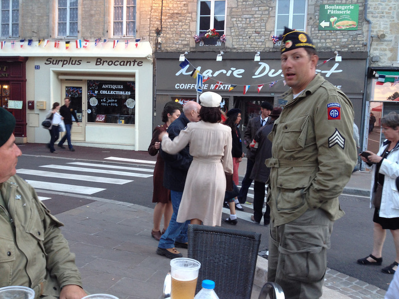 Final celebrations in Sainte-Mère-Église.<br /> <br /> French Resistance and some WAAFs.