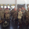 Briefing in the Cherbourg airport prior to the jump.<br /> <br /> Tinie v Schoor (1 Para Bn veteran) in the foreground.