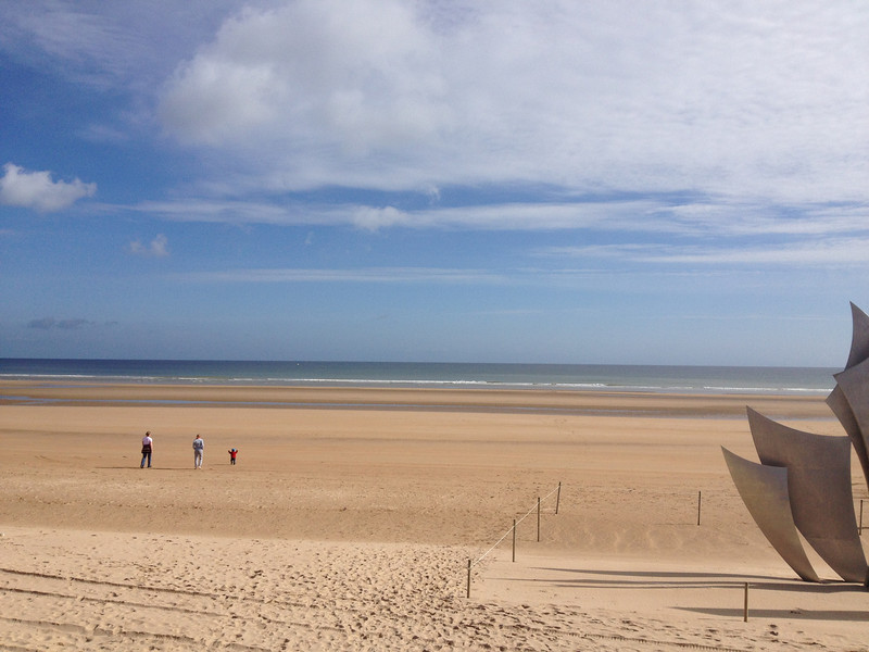 Omaha Beach looking north. Imagine having to cross that open expanse with people shooting at you!!!!!