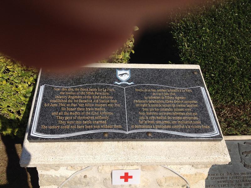 La Fiere bridge memorial.