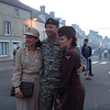 Final celebrations in Sainte-Mère-Église.<br /> <br /> Some WAAFs with our own Army SF Warrant Officer.