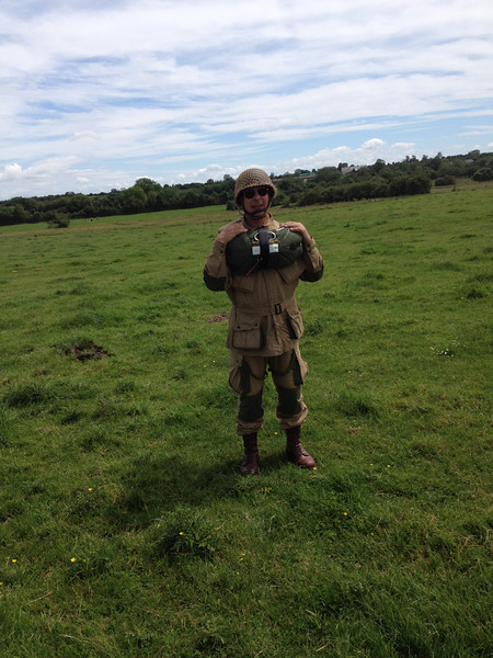 Yours truly after the Ecausseville jump.