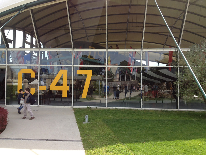 Airborne Museum in Sainte-Mère-Église - The C-47 hall.