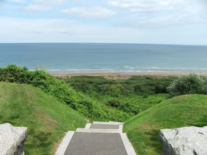 "The beach, known for the D-Day invasion as ""Omaha Beach"""