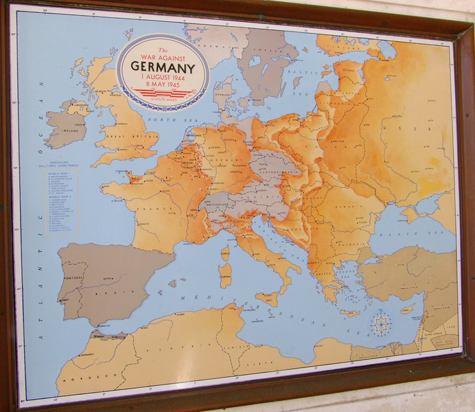 Near the end of WWII - the Allies closed in on Hitler's Germany.