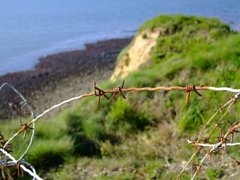 Point Du Hoc was heavily defended by the sheer cliffs, barbed wire and German machine guns.