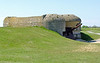 Massive concrete bunkers for the German guns.