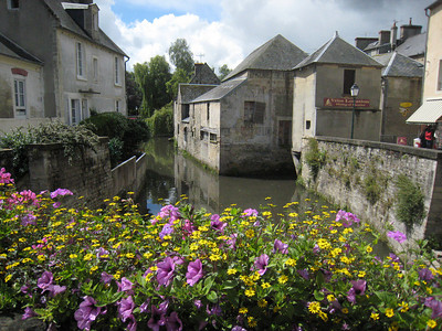 A gorgeous photo Colin took of the canal behind Bayeaux Cathedral.