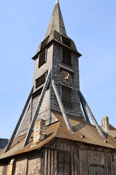 Wooden Clock Tower - Honfleur, France
