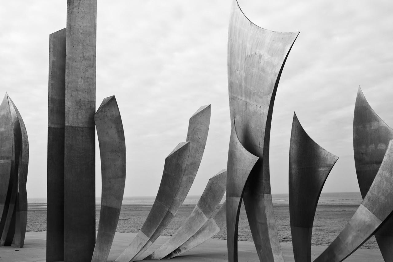 "Omaha Beach Memorial ""Les Braves"" - Normandy, France"
