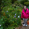 Grace in Monet's Garden.  Iris are in bloom.