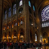 Interior and Crowds at Notre Dame
