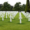 Graves at Colleville-sur-Mer, American Cemetary.  There are 9,387 buried here.