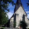 Kostel ve městě Voss.