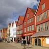 Stará část zvaná Bryggen ve městě Bergen.