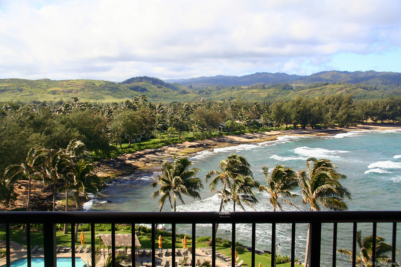 View from Turtle Bay Hotel Room, Oahu, Hawaii, May 2006