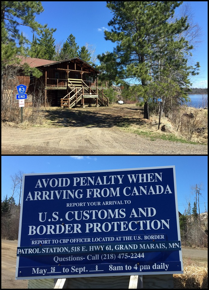 This is remote territory - literally at the end of the road and across the lake from the Canadian border, in the Boundary Waters Wilderness Area in upstate Minnesota
