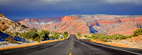 Driving to Grand Canyon from Tuba City, AZ USA