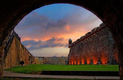 Sunset from within El Morro Fort, San Juan, Puerto Rico