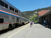 Away from the big cities the platforms were open. this is Glenwood Springs.
