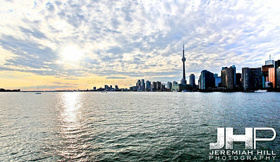 """Toronto Cityscape in Blue #6"", Toronto, ON, Canada, 2011 Print JP11-912-069"