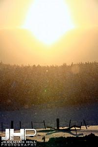 """Twilght, Farm, Winter"", Hillsdale, ON, Canada, 2011 Print JP11-1231-014"