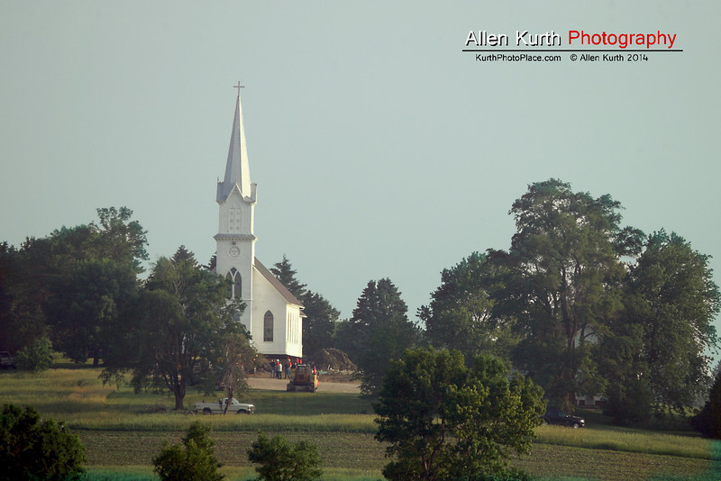 The church was located pretty close to the middle of nowhere - 10 miles from the nearest town.