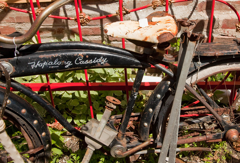What do you do with a rusty old bycycle.  Sell it for $485.