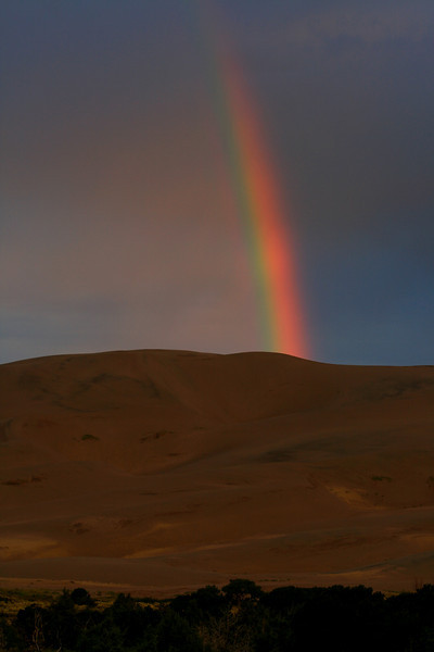Rainbow on the Great Sand Dunes - Colorado