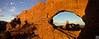 North window and turret arch under sunrise, arches NP