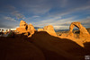 delicate arches under sunset, arches NP