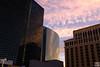 city center under dawn, from bellagio parking garage