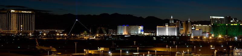Las Vegas, shot from short team parking garage in airport