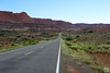 entrance road to capitol reef NP