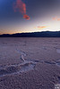 badwater salt flat after sunset