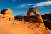delicate arch and La sal mountain, arches national park