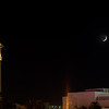 caesar palace and moon