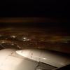 Montreal night scene from plane