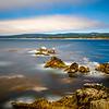 Long exposure of the rocky California coast