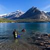 diving in lake Minnenwanka