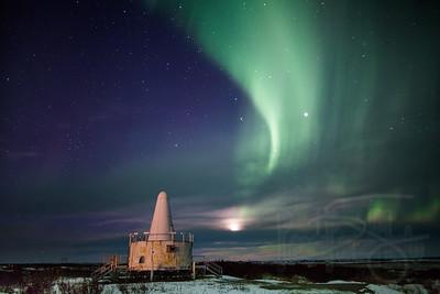 Auroras and the vortac. Kotzebue, AK.